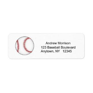 Baseball Address Label