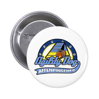 Baseball Affenpinscher Agility 2 Inch Round Button