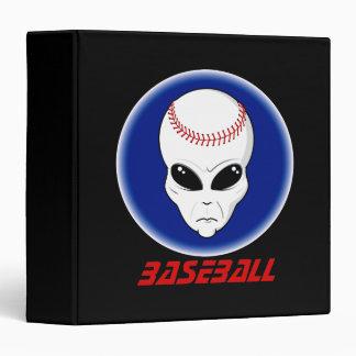 Baseball Alien 3 Ring Binder