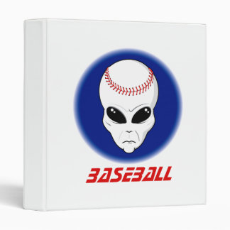 Baseball Alien Binder