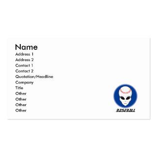 Baseball Alien Skull Business Card