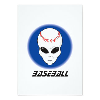 Baseball Alien Skull Card
