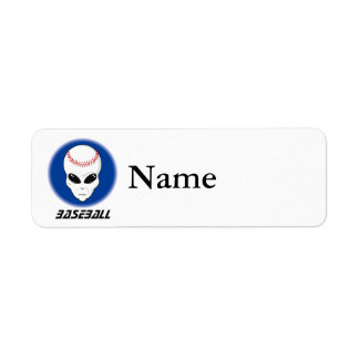 Baseball Alien Skull Label