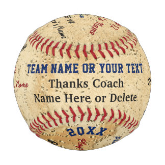 Baseball, ALL Player's Names Baseball Coach Gifts
