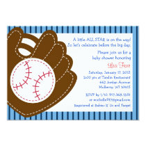 Baseball All Star Baby Shower Invitations