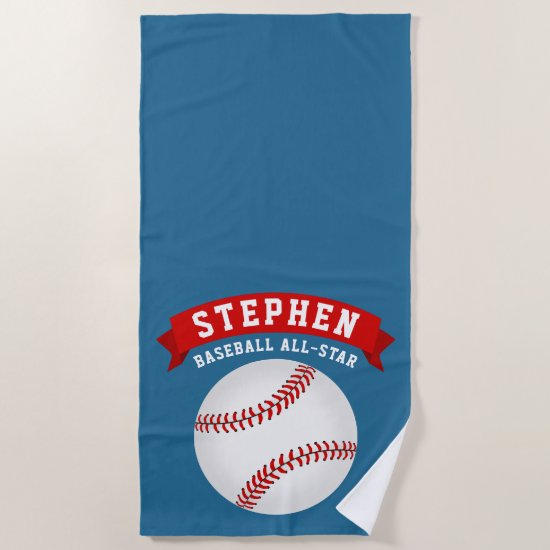 Baseball All-Star Beach Towel