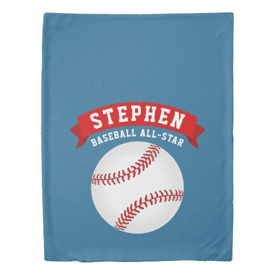 Baseball All-Star Duvet Cover