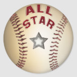 Baseball All Star Stickers