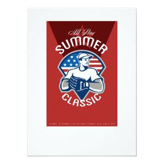 Baseball All Star Summer Classic Poster Personalized Invite