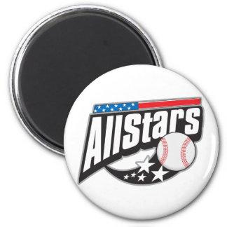 Baseball All Stars 2 Inch Round Magnet