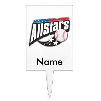 Baseball All Stars Cake Picks