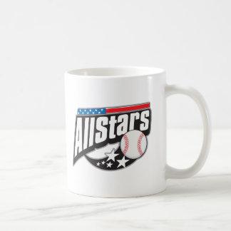 Baseball All Stars Classic White Coffee Mug