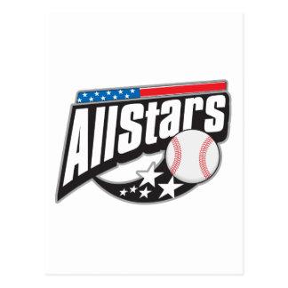 Baseball All Stars Postcard