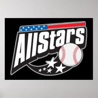 Baseball All Stars Poster