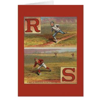 Baseball Alphabet R and S Card