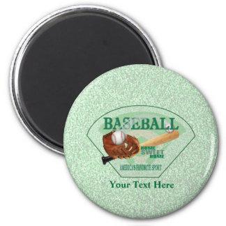 Baseball – Americas Favorite Sport Design 2 Inch Round Magnet