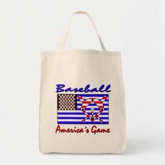 Baseball America's Game Tote Bag