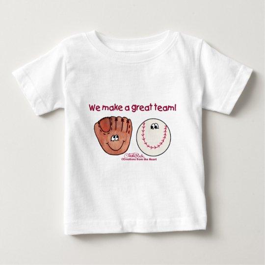 Baseball and Baseball Glove Team Baby T-Shirt
