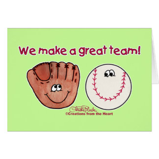 Baseball and Baseball Glove Team Card