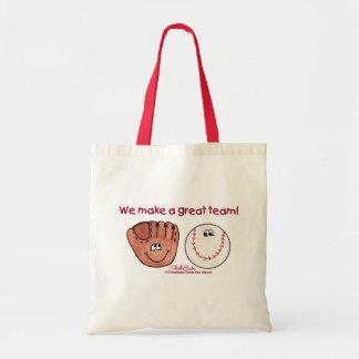 Baseball and Baseball Glove Team Tote Bag