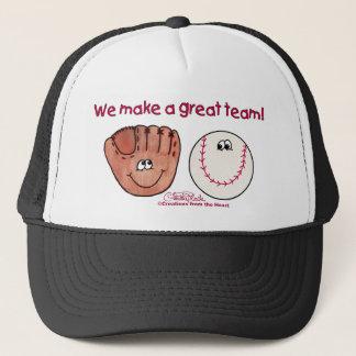 Baseball and Baseball Glove Team Trucker Hat