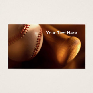 Baseball and Bat Business Cards