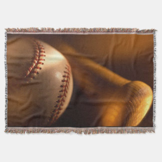 Baseball and Bat Throw Blanket