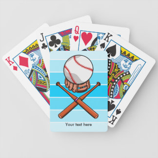 Baseball and Bats Forming A Jolly Roger Bicycle Playing Cards