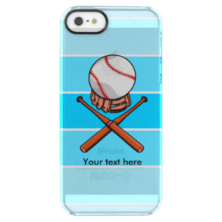 Baseball and Bats Forming A Jolly Roger Clear iPhone SE/5/5s Case