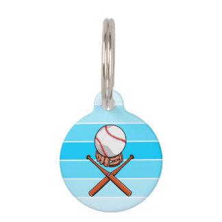 Baseball and Bats Forming A Jolly Roger Pet Name Tag