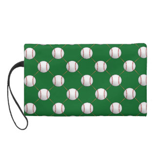 Baseball and Bats Wristlet Purse
