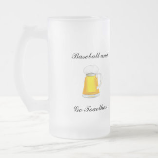 Baseball and beer stein puts you in the game.