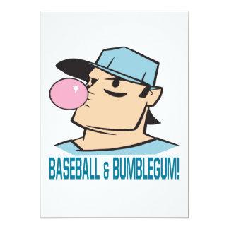 Baseball And Bubblegum 5x7 Paper Invitation Card