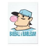 Baseball And Bubblegum Custom Invites