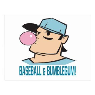 Baseball And Bubblegum Postcard