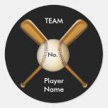 Baseball and Crossed Bats Customizable Sticker