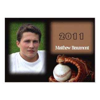 "Baseball and Glove Graduation Announcement 5"" X 7"" Invitation Card"
