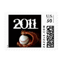 Baseball and Glove Graduation Postage Stamp
