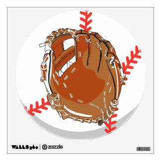 baseball and glove mitt  graphic wall decal