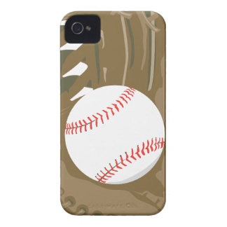 baseball and glove mitt iPhone 4 Case-Mate case