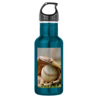 Baseball and Glove 18oz Water Bottle