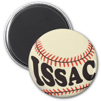 Baseball and Issac 2 Inch Round Magnet