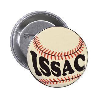 Baseball and Issac Pinback Buttons