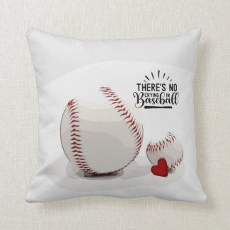 Baseball  and  red heart are on white background t throw pillow