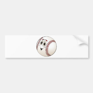 Baseball Angled Cartoon Bumper Sticker