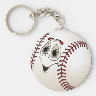 Baseball Angled Cartoon Keychain