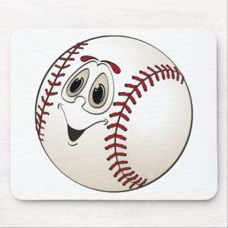 Baseball Angled Cartoon Mouse Pad