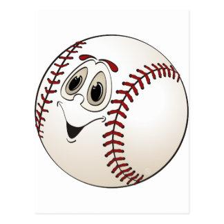 Baseball Angled Cartoon Postcard