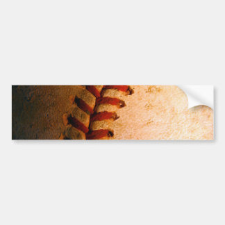 Baseball Art Bumper Sticker