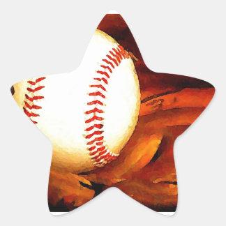 Baseball Art Star Sticker